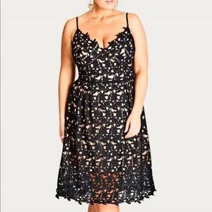 City chic size 18 lace dress